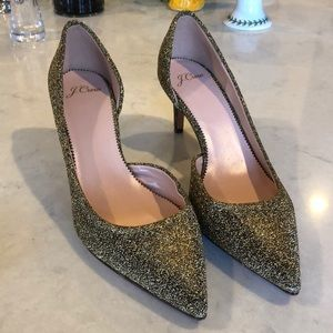 J. Crew sparkly heels